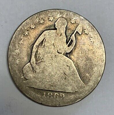 1862-S Seated Liberty Silver Half Dollar Good Condition