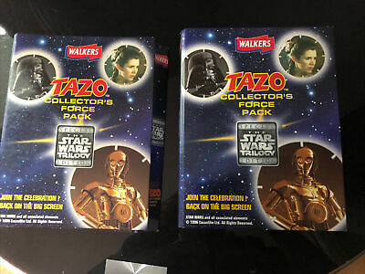 Walkers star wars tazos collectors force pack Trilogy edition Complete 50 tazo's