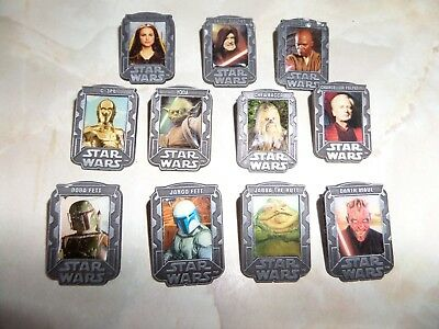 11 Collectable Star Wars episode 111 2005 enamel pin / lapel badges