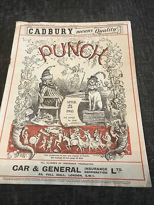 Punch Magazine In Good Condition April 25 1945