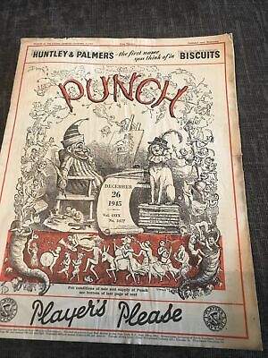 Punch Magazine In Good Condition December 6 1945