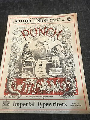 Punch Magazine In Good Condition July 31 1946