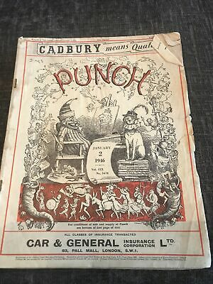Punch Magazine In Good Condition January 2 1946