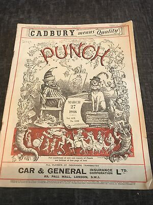 Punch Magazine In Good Condition March 27 1946