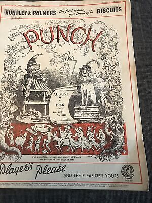 Punch Magazine In Good Condition  August 7 1946
