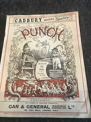Punch Magazine In Good Condition August 14 1946