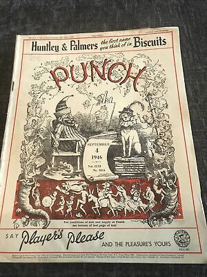 Punch Magazine In Good Condition September 4 1946