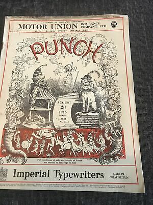 Punch Magazine In Good Condition August 28 1946