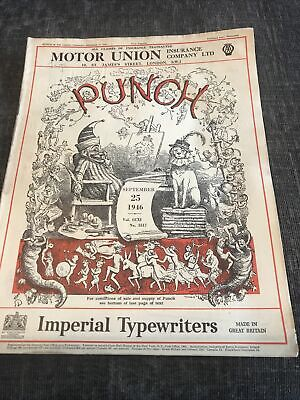 Punch Magazine In Good Condition September 25 1946