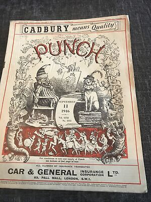 Punch Magazine In Good Condition September 11 1946