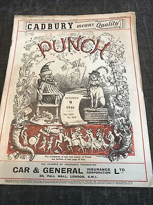 Punch Magazine In Good Condition October 9 1946