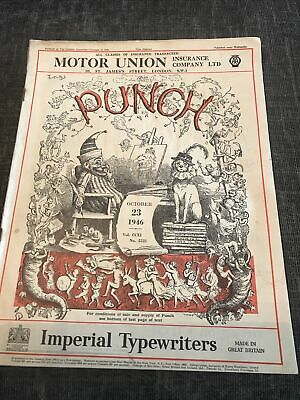 Punch Magazine In Good Condition October 23 1946
