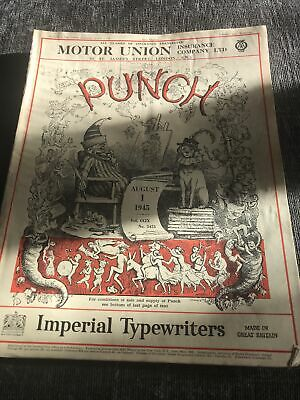 Punch Magazine In Good Condition August 1 1945