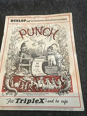 Punch Magazine In Good Condition September 18 1946