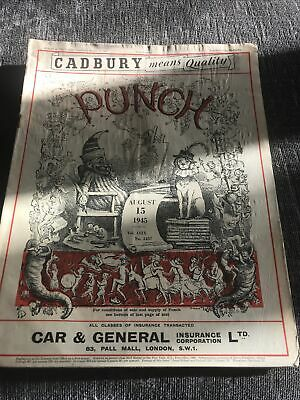 Punch Magazine In Good Condition August 15 1945
