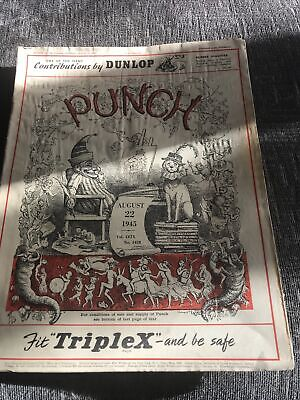 Punch Magazine In Good Condition August 22 1945