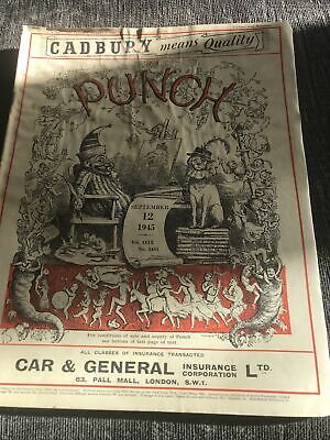 Punch Magazine In Good Condition September 12 1945