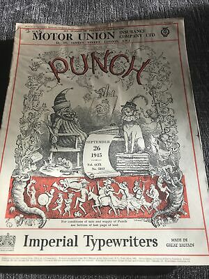 Punch Magazine In Good Condition September 26 1945