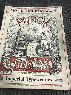 Punch Magazine In Good Condition April 10 1946