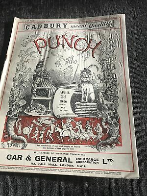 Punch Magazine In Good Condition April 24 1946