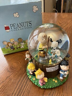 Peanuts Concert Tonight Musical Snow Globe Charlie Brown Westland Great Conditio