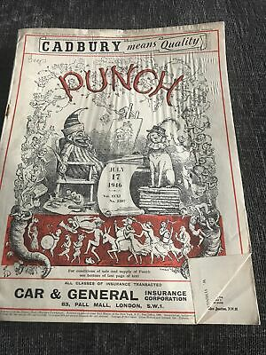 Punch Magazine In Good Condition July 17 1946