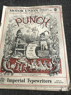 Punch Magazine In Good Condition November 20 1946