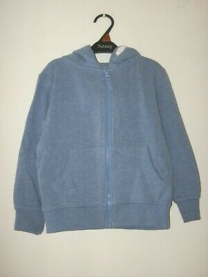BOY'S / GIRL'S NEXT BLUE LONG SLEEVED HOODIE. Age 4 - 5 years. Height 110 cm.