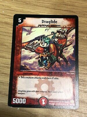 Draglide, Armoured Wyvern. Duel Master Collectable Card, Game Card