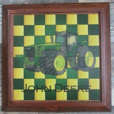 JOHN DEERE MAGNETIC CHECKERBOARD play checkers or use it as a wall hanging!