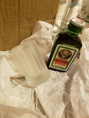 NEW Frosted Jagermeister Jager 1 OZ Shot Glass Germany RARE COLLECTABLE
