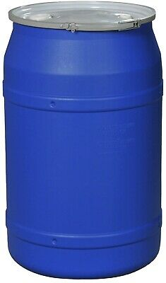Eagle Abrasives straight-Sided blue 1656 MBBG Poly Drum With Double Bungs