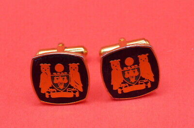 Cufflinks, Two Owls Crest / Coat Of Arms  ,  (C1036)