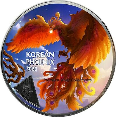 2020 South Korea Phoenix!  - 1 Ounce Pure Silver and Colorized!