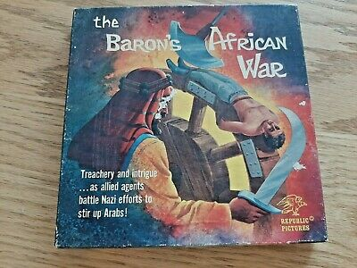 The Baron's African War 8mm Film Republic Pictures Black and White Silent