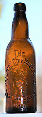 East Liverpool Ohio Blob Top Beer Bottle - Crockery City Brewing