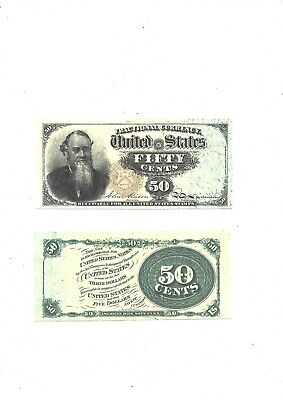 50 cents U.S 1866 (reproduction)