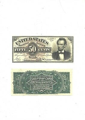 50 cents U.S 1863 (reproduction)