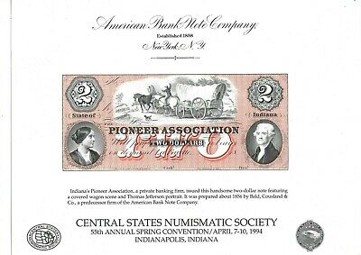 PIONEER ASSOCIATION  > LaFayette, Indiana<  18...  --ABNC--