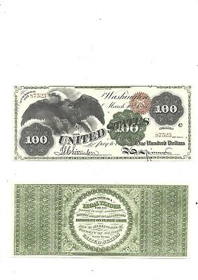 1864 $100-reproduction--