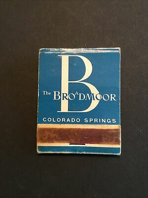 Vintage Matchbook The Broadmore Hotel Colorado Springs CO