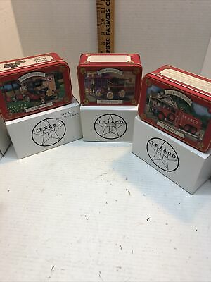 3 Different ERTL Texaco Collector's Club 1:43 Die-Cast Vehicles w/Tin Boxes NIB