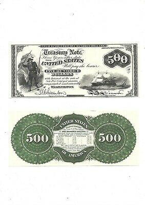 1864 Treasory Note (reproduction)