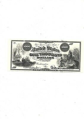 1863  $1,000 (reproduction)