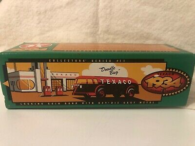 TEXACO 1934 Red DOODLE BUG DIAMOND T TANKER BANK LIMITED EDITION 1994 ERTL NIB