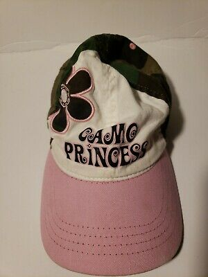 Camo Princess Baseball Hat Cap Lid Youth Pink Paramount Outdoors