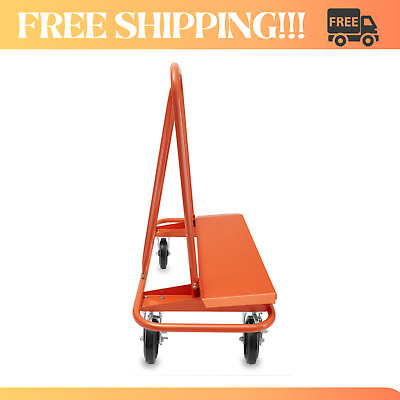 Heavy Duty Steel Drywall Dolly Sheet Cart and Panel Plywood with 4 Swivel Wheels