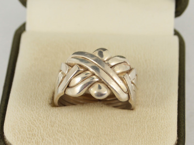 """Sterling Silver Sizes 5-12   /""""FREE Shipping/"""" Puzzle Ring Butterfly"""