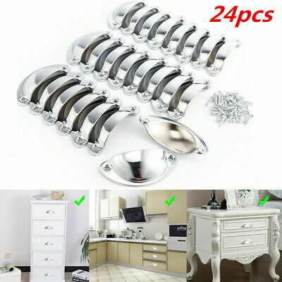 24 Cupboard Cabinet Cup Drawer Furniture Antique Shell Pull Handle Pick Color