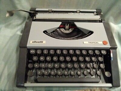 Very Nice Office Gift ANTIQUE collection ! Olivetti Tropical vintage portable typewriter